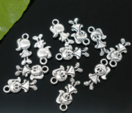 10 x Antique Silver Girl Charm Pendants